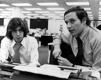 Journalists Carl Bernstein and Bob Woodward