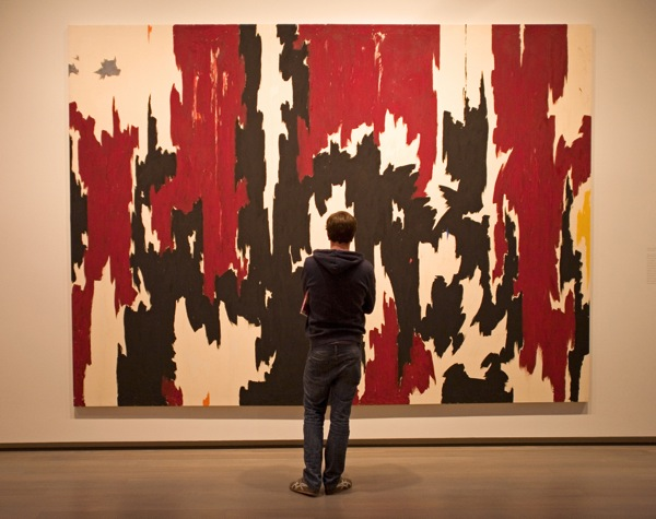 Student at the Clyfford Still Museum in Denver.